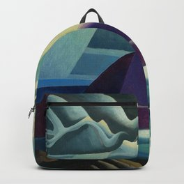Lake Superior No. I, 1923 maritime seascape painting by Lawren Harris Backpack