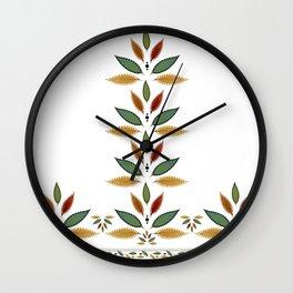 """Tree of Polka Dots Leaves"" Wall Clock"