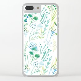 Watercolor Leaves I Clear iPhone Case