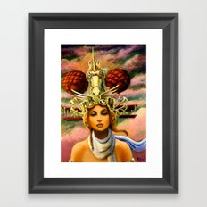 Unicorn Travel Headgear Framed Art Print