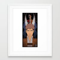 shingeki no kyojin Framed Art Prints featuring Shingeki no Kyojin - Jean card by kamikaze43v3r