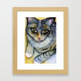Cleo Kitty Framed Art Print