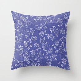 Gisophila blue Throw Pillow