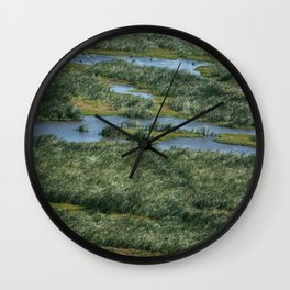 Green beautiful land Wall Clock