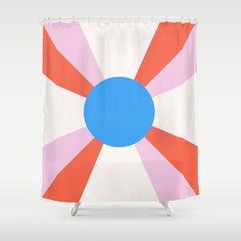Retro Sun Rays - Mod Tones Shower Curtain