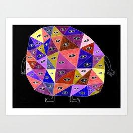 Million-Eyed Creature Art Print