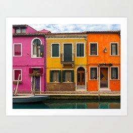 The Streets of Burano Art Print