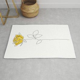 Lemon Rose Rug