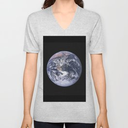 Nasa Picture 4: The earth from the space or the blue marble. Unisex V-Neck