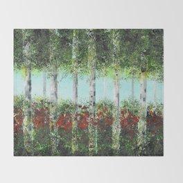 Aspen Trees Throw Blanket