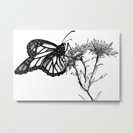 Monarch Butterfly by Sketchy Reputation Metal Print