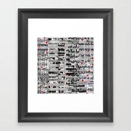 Opportunistic Species (P/D3 Glitch Collage Studies) Framed Art Print