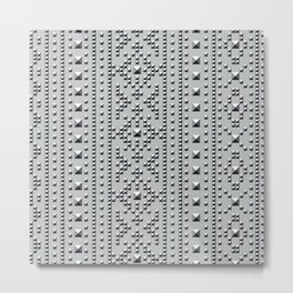 Studded Southwest Stripe 1 Metal Print