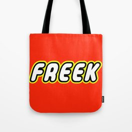 FREEK in Brick Font Logo Design by Chillee Wilson  Tote Bag