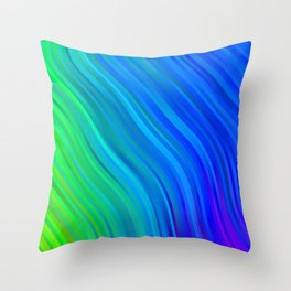 stripes wave pattern 1 stdv Throw Pillow