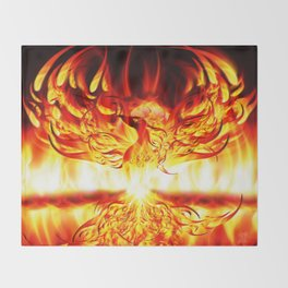 PHOENIX RISING Throw Blanket