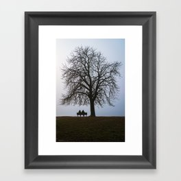 That night we sat together under a tree Framed Art Print