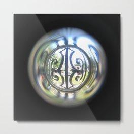 Through the Peephole Metal Print