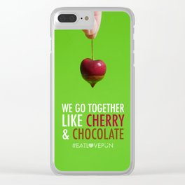 We Go Together Like Cherry & Chocolate Clear iPhone Case