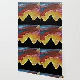Everest Silhouette - Abstract Sky Oil Painting Wallpaper