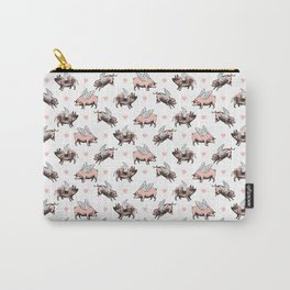 Flying Pigs   Vintage Pigs with Wings   Carry-All Pouch
