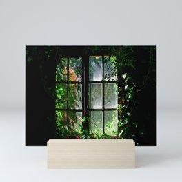 Secret garden window Mini Art Print