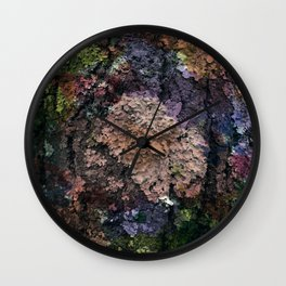 Colored lichens Wall Clock