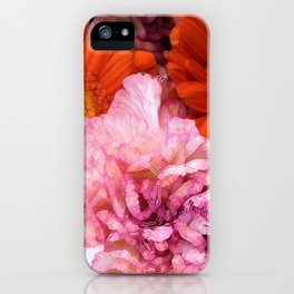 Peonies and Gerbers iPhone Case