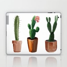 Three Cacti On White Background Laptop & iPad Skin
