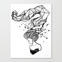 Geometrical Tresses Canvas Print