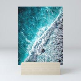 Brilliant Blue Ocean Waves Mini Art Print