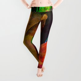 modern flowers c Leggings