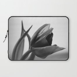 Tulip Blooming In Black And White Laptop Sleeve