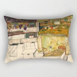 "Egon Schiele ""Old Houses in Krumau"" Rectangular Pillow"