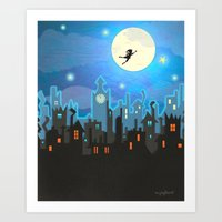 peter pan Art Prints featuring Peter Pan by MagzArt