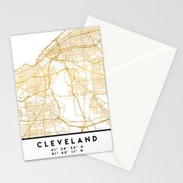 CLEVELAND OHIO CITY STREET MAP ART Stationery Cards
