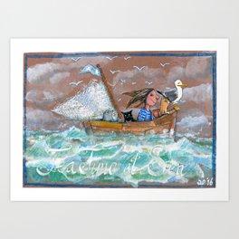 Tea time at Sea Art Print
