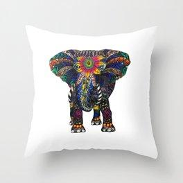 Spiritual Elephant Throw Pillow