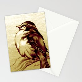 Sparrow in the Cold Stationery Cards