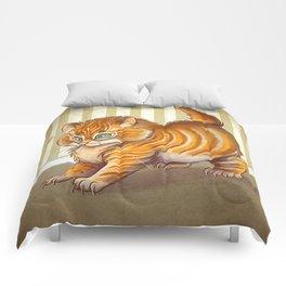 Orange Kitten Comforters