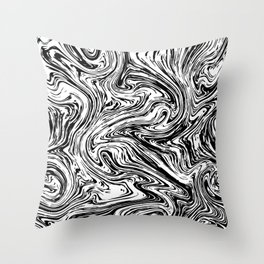 Marble black pattern Throw Pillow