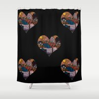 oriental Shower Curtains featuring Oriental Houses  by  Rose Voutsas