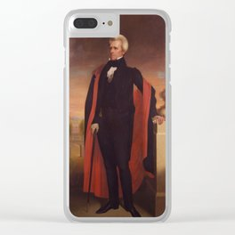 Andrew Jackson Painting Clear iPhone Case