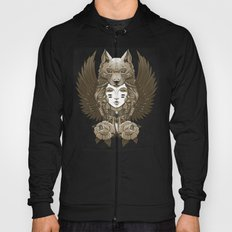 Native girl of the Grey Wolf Tribe Hoody