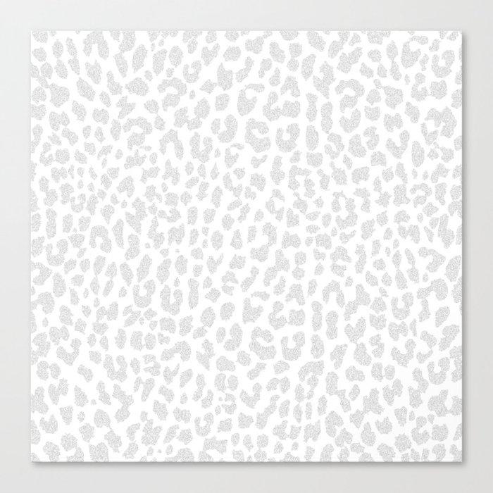 Pale Gray Leopard Leinwanddruck