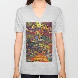 """Claude Monet """"Path under the Rose Trellises, Giverny"""", 1922 Unisex V-Neck"""