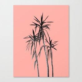 Palm Trees - Apricot Blush Cali Summer Vibes #1 #decor #art #society6 Canvas Print