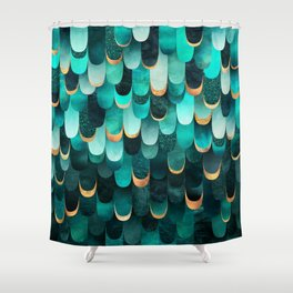 Feathered - Turquoise Shower Curtain