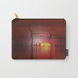 Windmills in the Sun (Digital Art) Carry-All Pouch