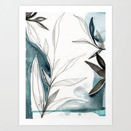 Sketchbook Leaves 1 Art Print